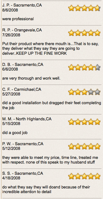 sacramento roofer reviews