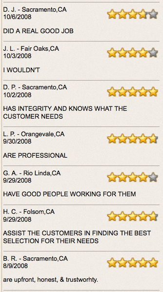 roofer reviews sacramento