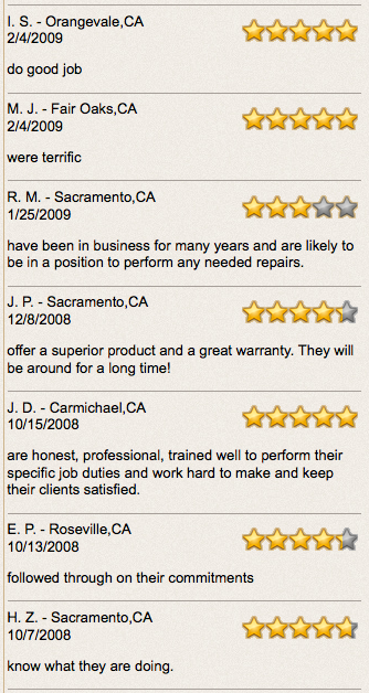 sacramento recommended roofers
